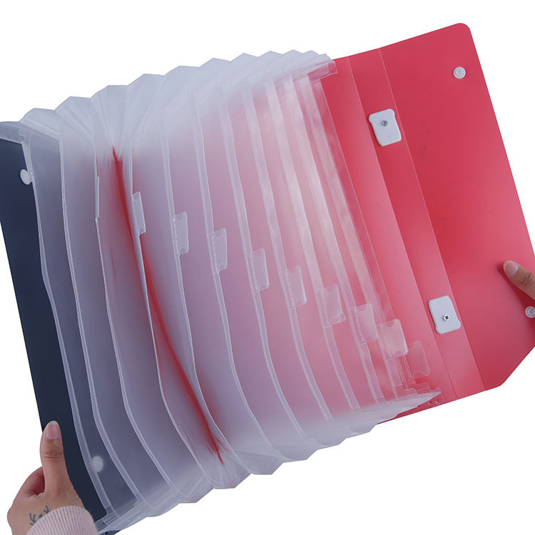 Eco Friendly Custom Competitive Price Expanding 13 Pocket PP File Folder XS29010
